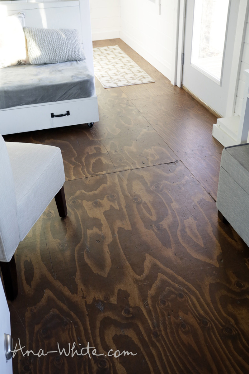 Best ideas about Plywood Floor DIY . Save or Pin Video How to Stain Plywood Floor Subfloor Flooring Tiny Now.