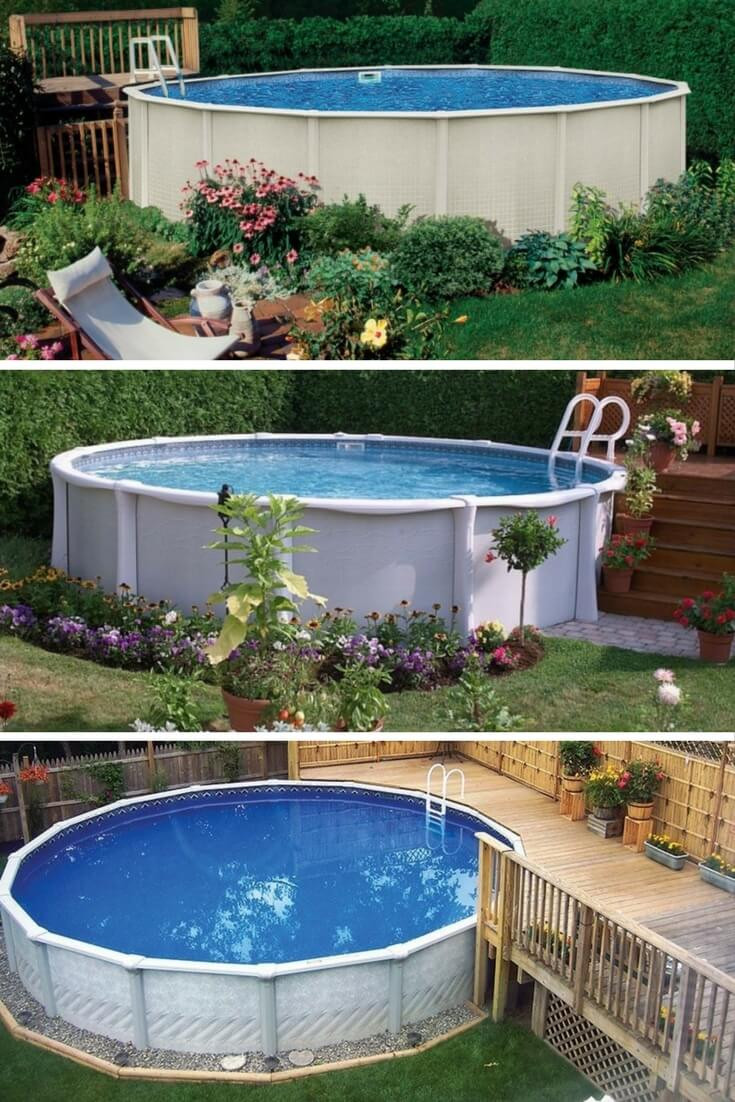 Best ideas about Pool Decks For Above Ground Pools . Save or Pin 40 Uniquely Awesome Ground Pools with Decks Now.