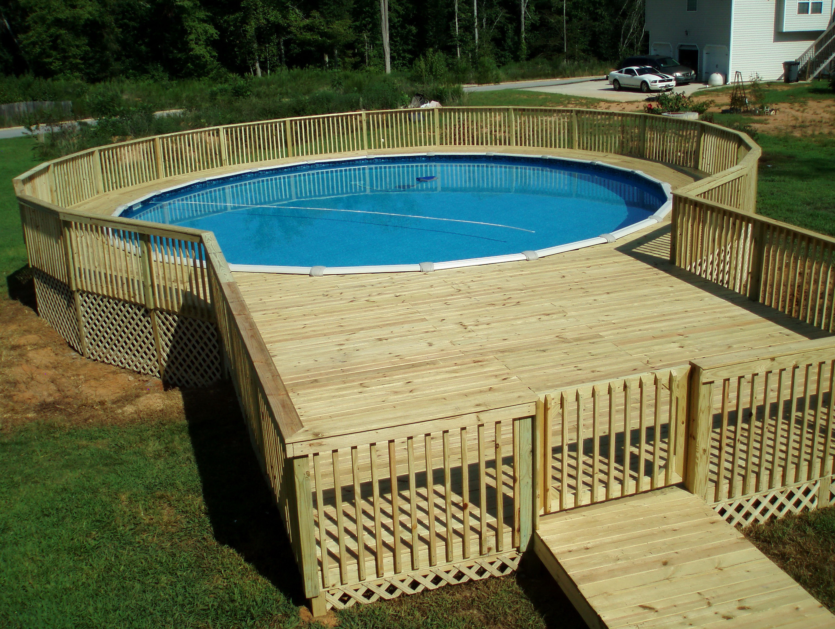 Best ideas about Pool Decks For Above Ground Pools . Save or Pin Pool Deck Ideas Image Swimming Clipgoo Now.