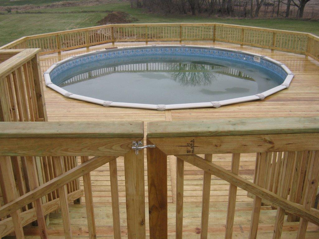 Best ideas about Pool Decks For Above Ground Pools . Save or Pin Have Archadeck of Ft Wayne build your pool deck Now.