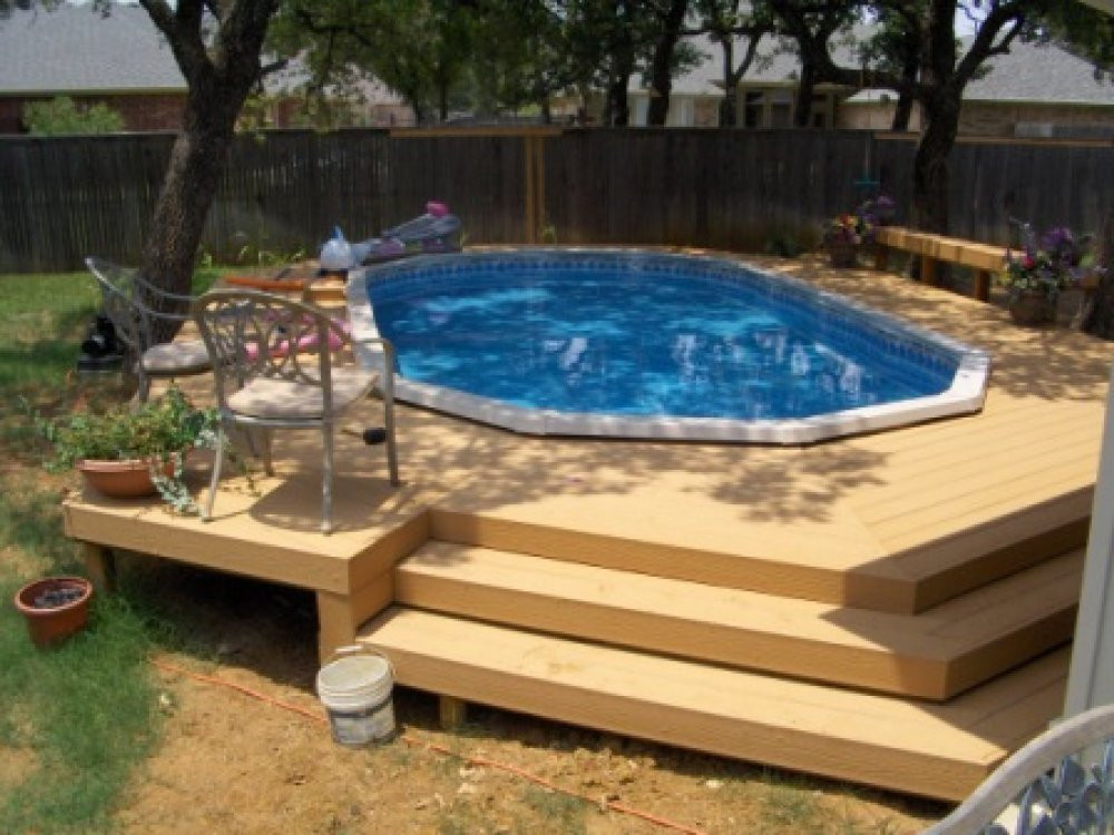 Best ideas about Pool Decks For Above Ground Pools . Save or Pin Ground Pools With Decks Now.