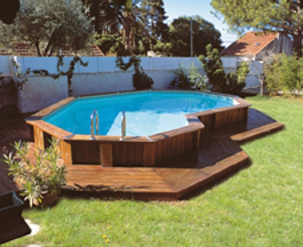 Best ideas about Pool Decks For Above Ground Pools . Save or Pin Pool & Backyard Designs Gorgeous Yet Safe Ground Now.