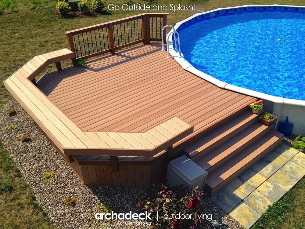 Best ideas about Pool Decks For Above Ground Pools . Save or Pin Pool Deck around Ground Pool Des Moines Indianola Now.