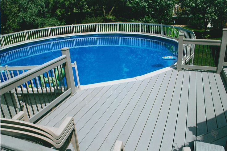 Best ideas about Pool Decks For Above Ground Pools . Save or Pin Very cool idea for above ground pool decks Now.