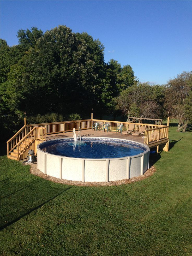 Best ideas about Pool Decks For Above Ground Pools . Save or Pin Best 25 ground pool decks ideas on Pinterest Now.