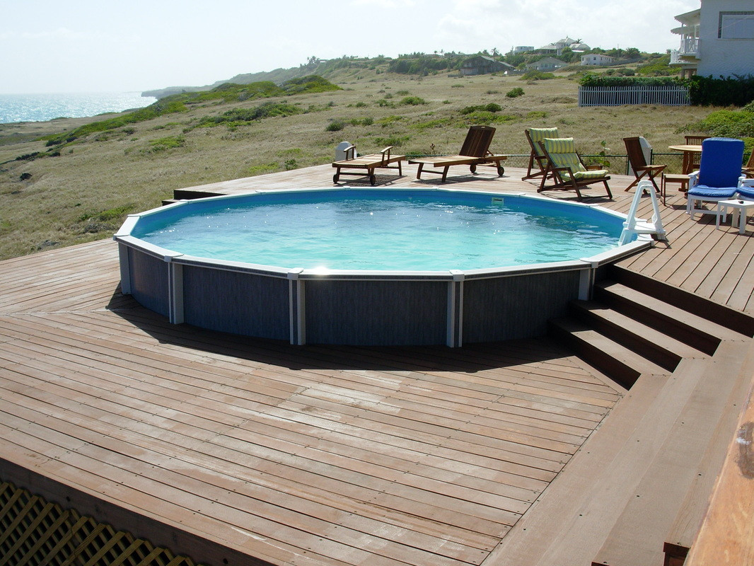 Best ideas about Pool Decks For Above Ground Pools . Save or Pin Ground Pools With Decks Ground Pool Reviews Now.