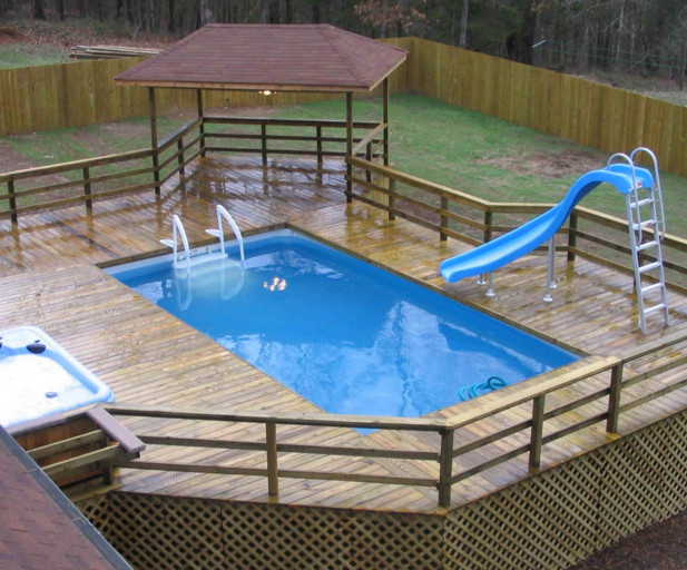 Best ideas about Pool Decks For Above Ground Pools . Save or Pin How to Build a Deck Next to an Ground Pool Now.