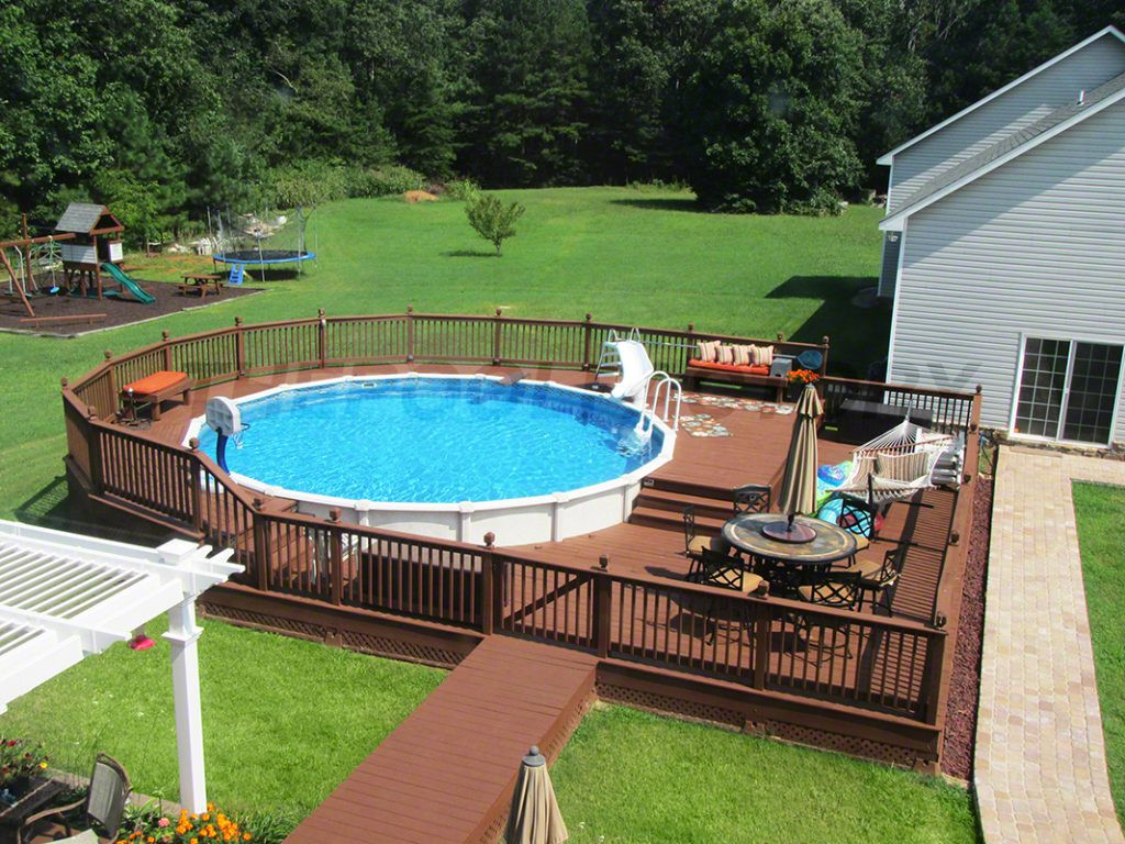 Best ideas about Pool Decks For Above Ground Pools . Save or Pin Pool Deck Ideas Full Deck The Pool Factory Now.