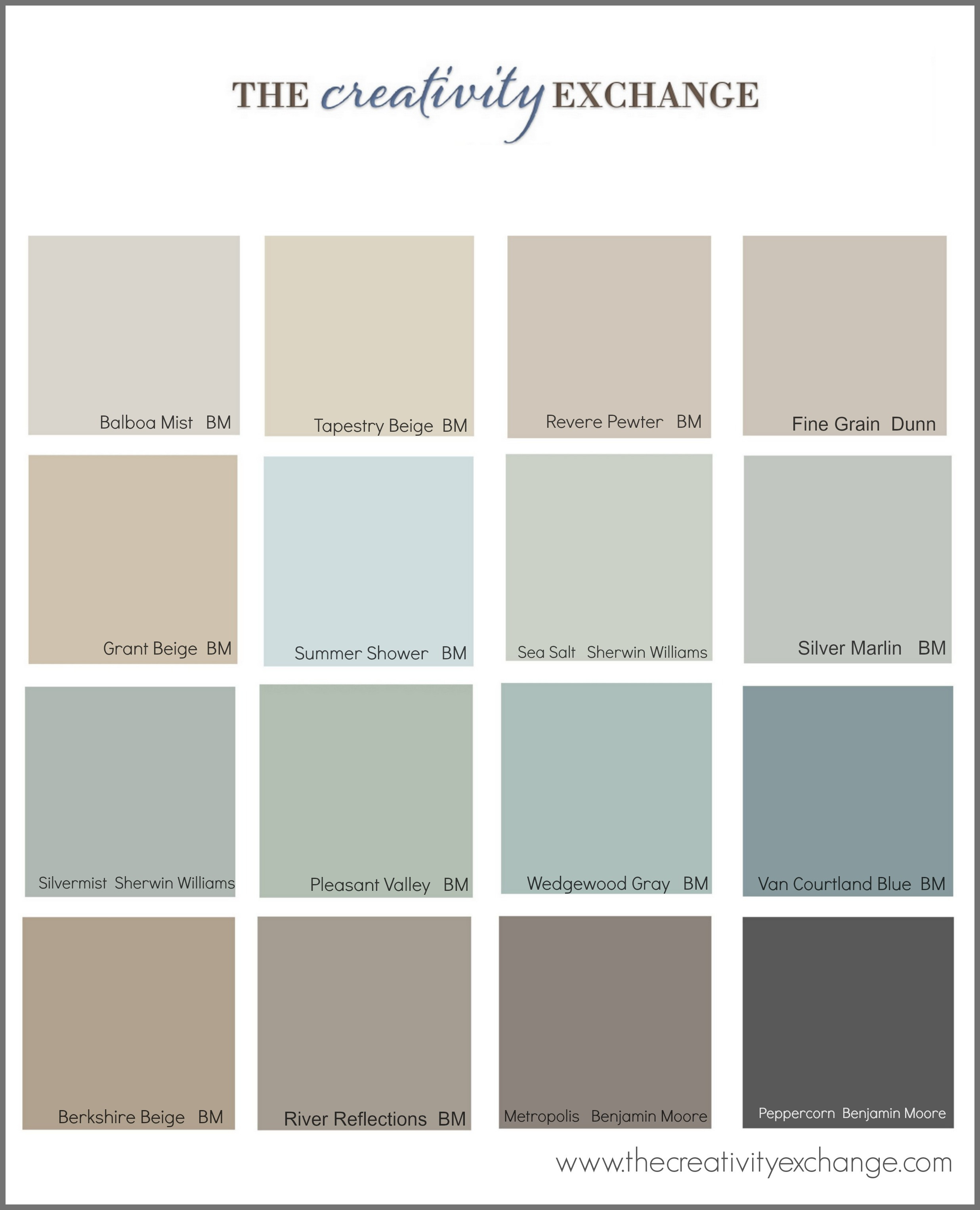Best ideas about Popular Interior Paint Colors . Save or Pin The Most Popular Paint Colors on Pinterest Now.
