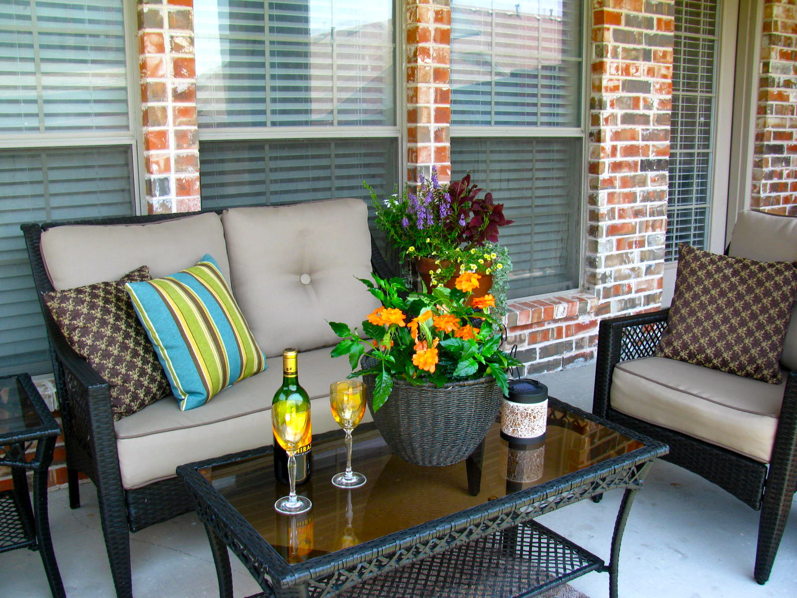 Best ideas about Porch Furniture Ideas . Save or Pin MAY DAYS A Small Patio Makeover Now.