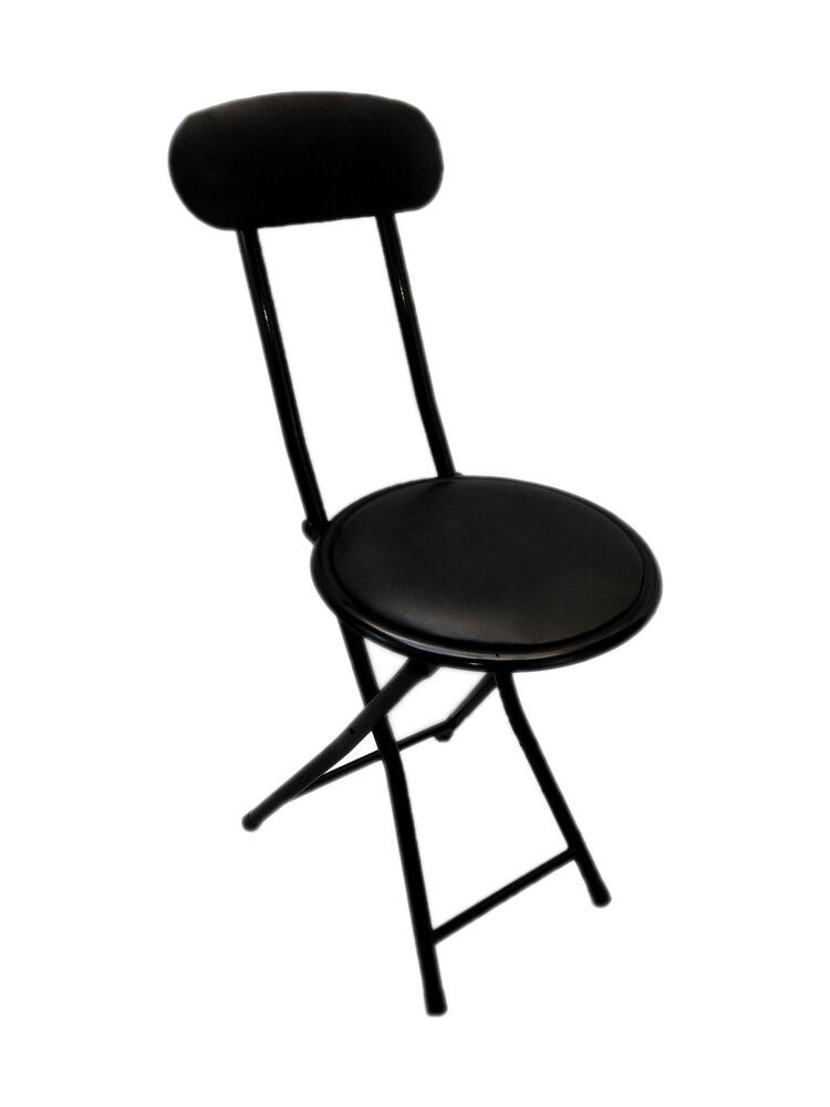 Best ideas about Portable Folding Chair . Save or Pin Small Portable Black Folding Chair Padded Easy Stackable Now.