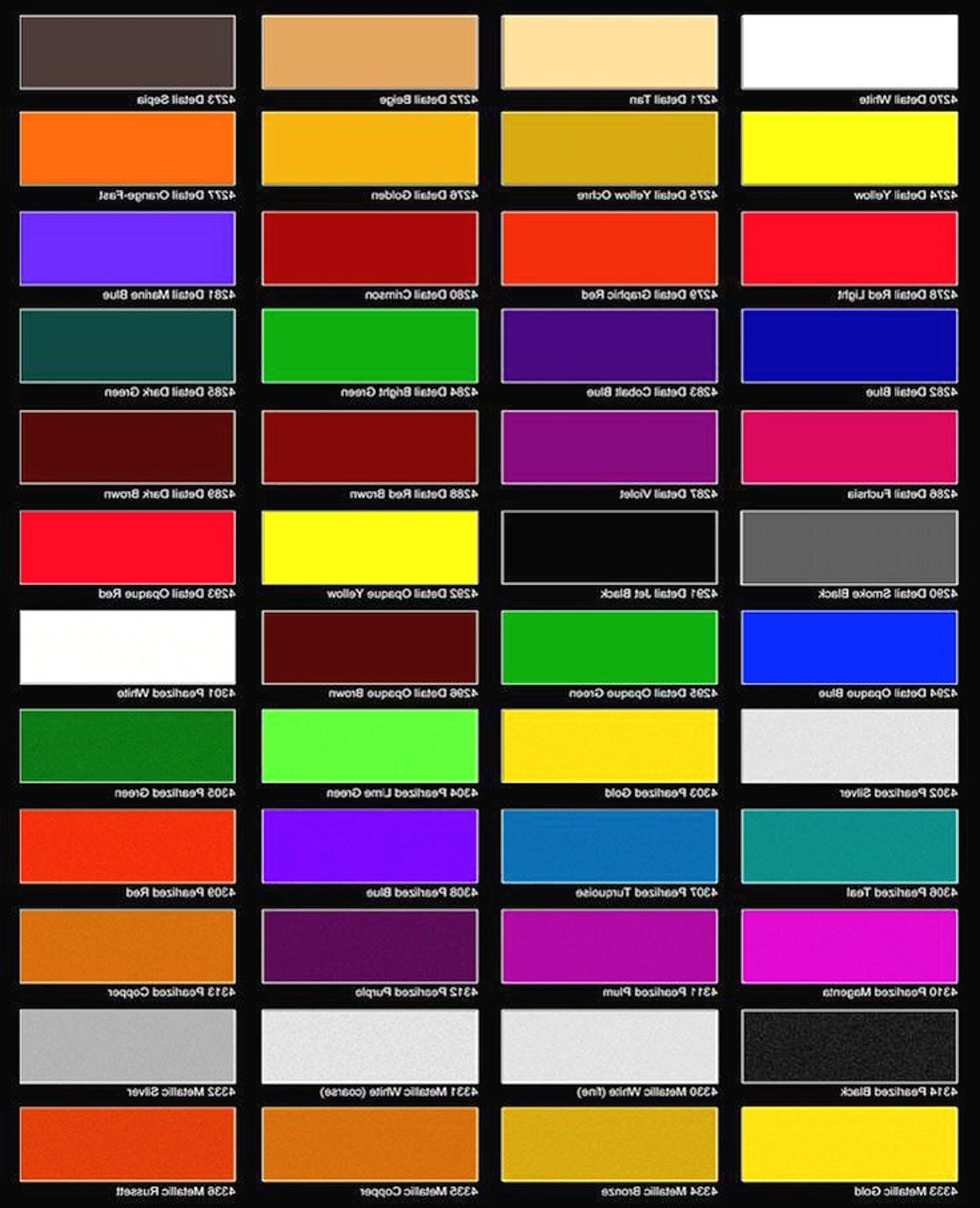 Best ideas about Ppg Automotive Paint Colors . Save or Pin car color chart metallic paint color charts autos post Now.