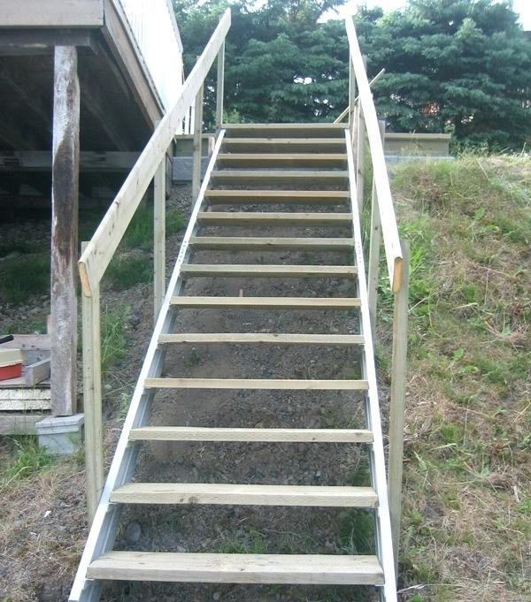 Best ideas about Prefab Outdoor Stairs . Save or Pin Prefabricated Exterior Steps Wood Outdoor Wonderful Steel Now.