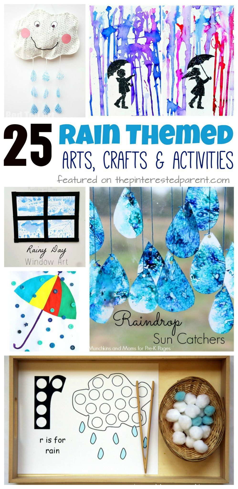 Best ideas about Preschoolers Arts And Crafts Ideas . Save or Pin 25 Rain themed arts crafts and activities for the spring Now.