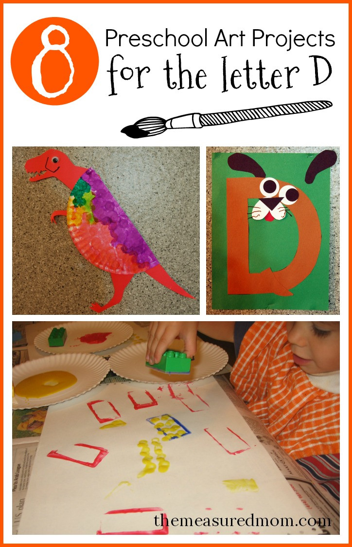 Best ideas about Preschoolers Arts And Crafts Ideas . Save or Pin 8 Letter D Crafts The Measured Mom Now.