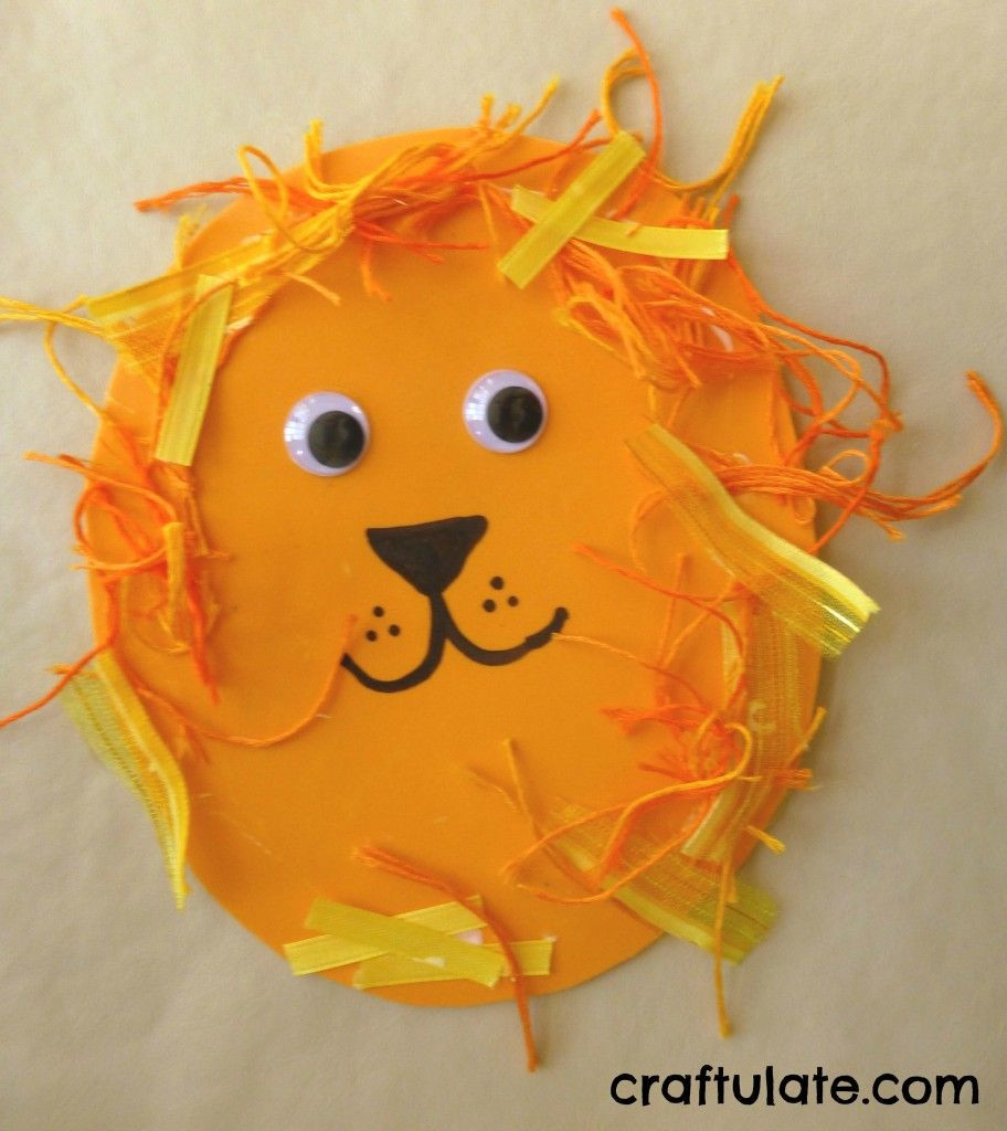 Best ideas about Preschoolers Arts And Crafts Ideas . Save or Pin Lion Crafts for Toddlers School stuff Now.