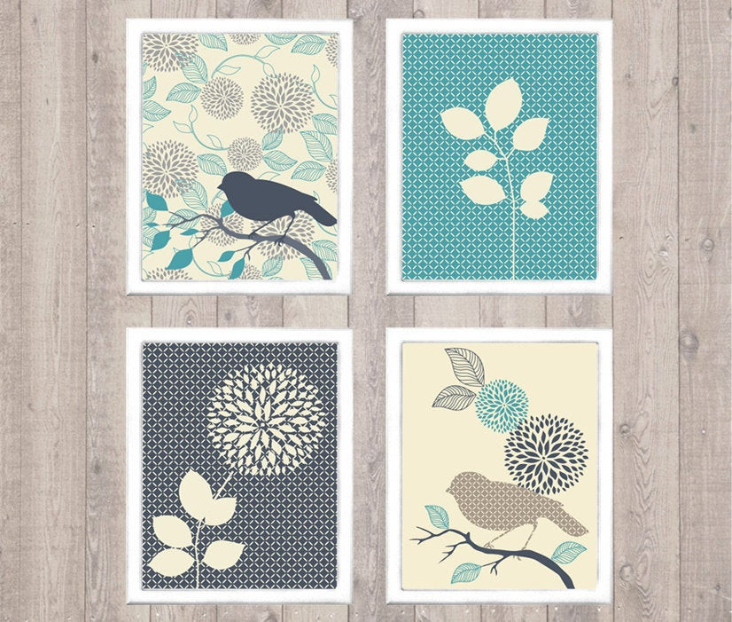 Best ideas about Printable Wall Art . Save or Pin Bird & Flower Digital Printable Wall Art Print by Now.