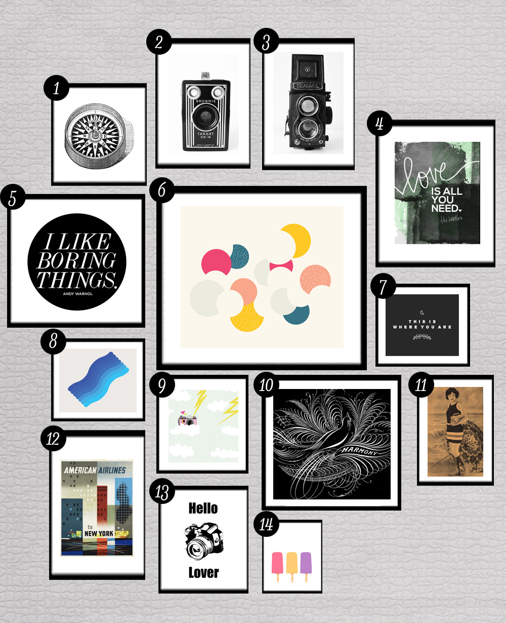 Best ideas about Printable Wall Art . Save or Pin 28 More Free Prints for Your Gallery Walls • Little Gold Pixel Now.