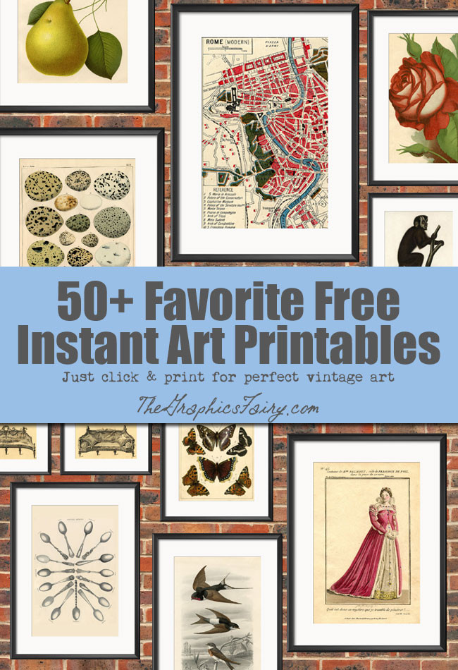 Best ideas about Printable Wall Art . Save or Pin 50 Free Wall Art Printables The Graphics Fairy Now.