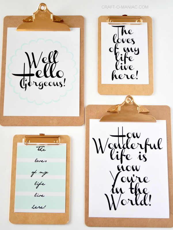 Best ideas about Printable Wall Art . Save or Pin Clipboard Wall Art with Free Printables Now.