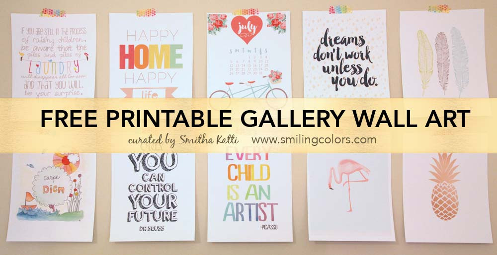 Best ideas about Printable Wall Art . Save or Pin Printable gallery wall art that will make your room look Now.