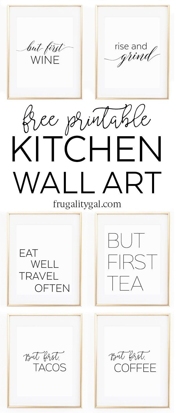 Best ideas about Printable Wall Art . Save or Pin Kitchen Gallery Wall Printables Now.