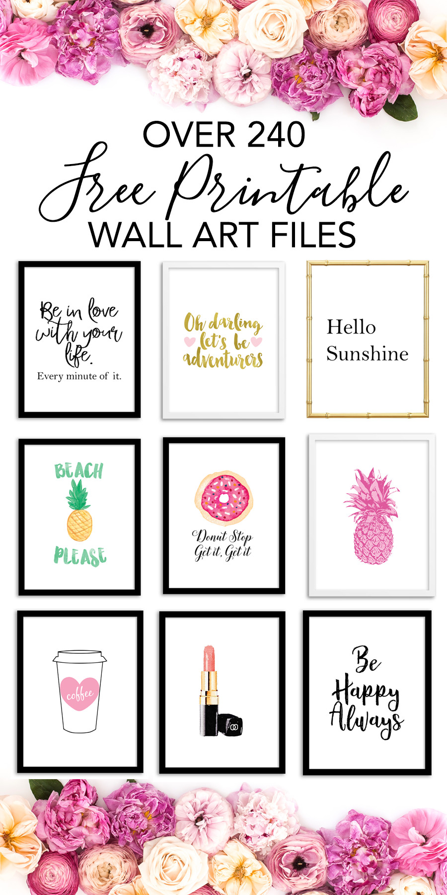 Best ideas about Printable Wall Art . Save or Pin Printable Wall Art Print wall decor and poster prints Now.