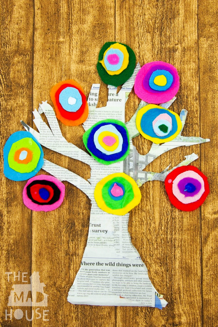 Best ideas about Project For Kids . Save or Pin Kandinsky Inspired Tree made with Felt Scraps Mum In The Now.