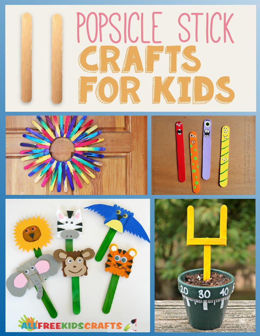 Best ideas about Project For Kids . Save or Pin 11 Popsicle Stick Crafts for Kids Now.