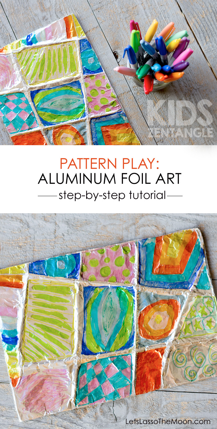 Best ideas about Project For Kids . Save or Pin Colorful Zentangle Art Easy Aluminum Foil Kids Project Now.