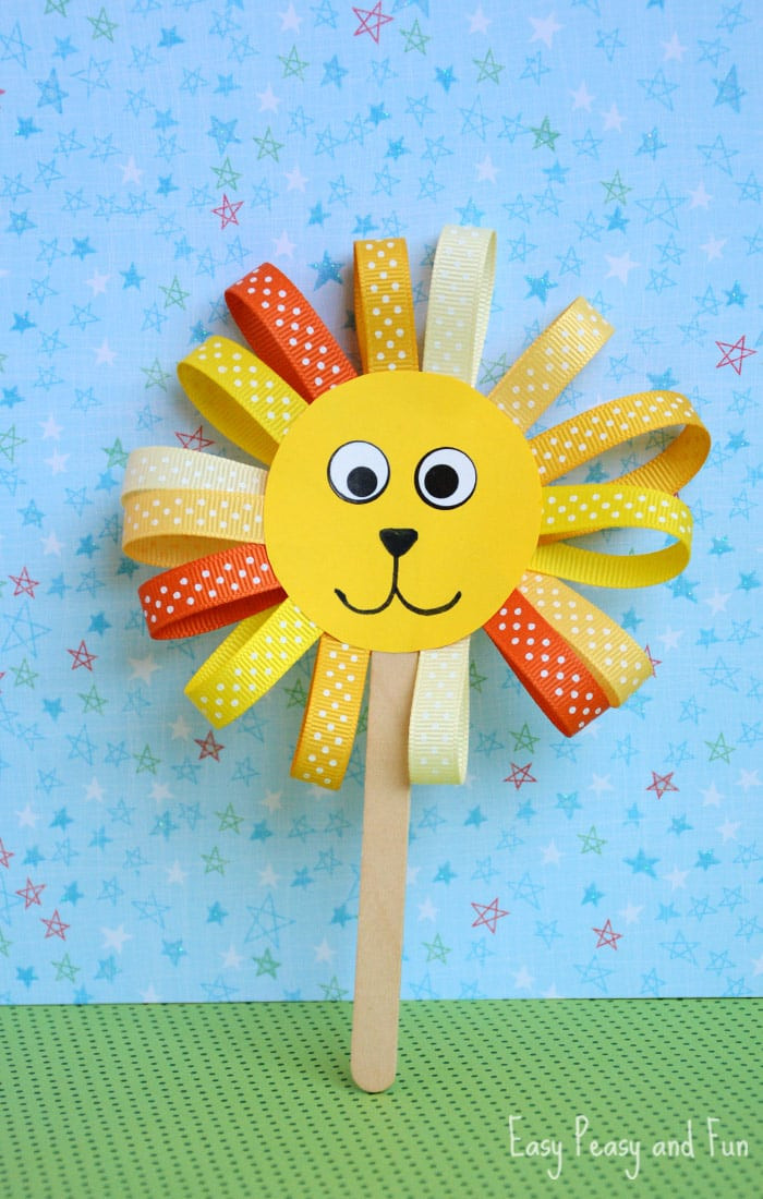 Best ideas about Project For Kids . Save or Pin Ribbon Lion Puppet Craft Lion Crafts for Kids Easy Now.
