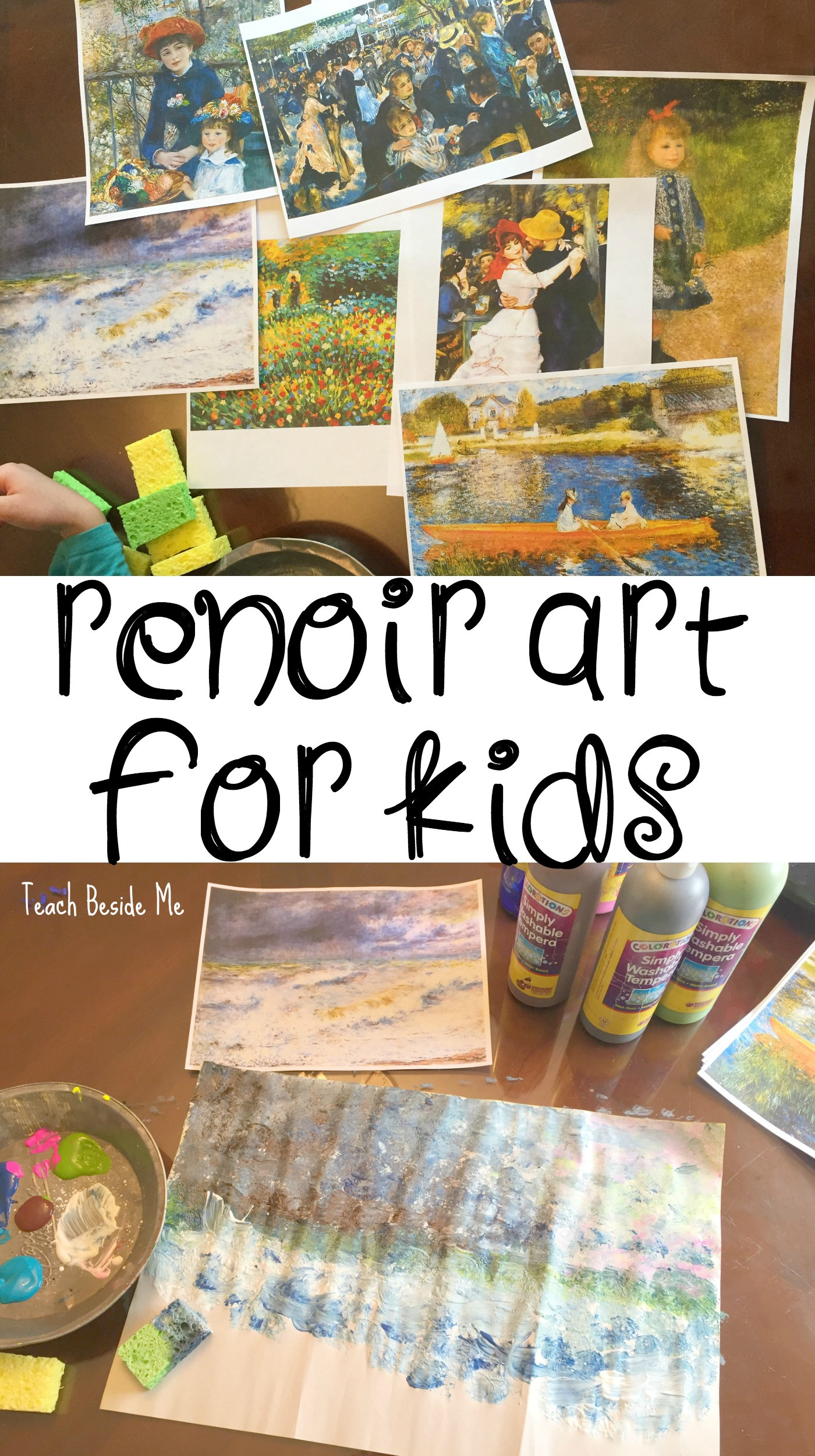 Best ideas about Projects For Kids . Save or Pin Renoir Art Project for Kids Teach Beside Me Now.