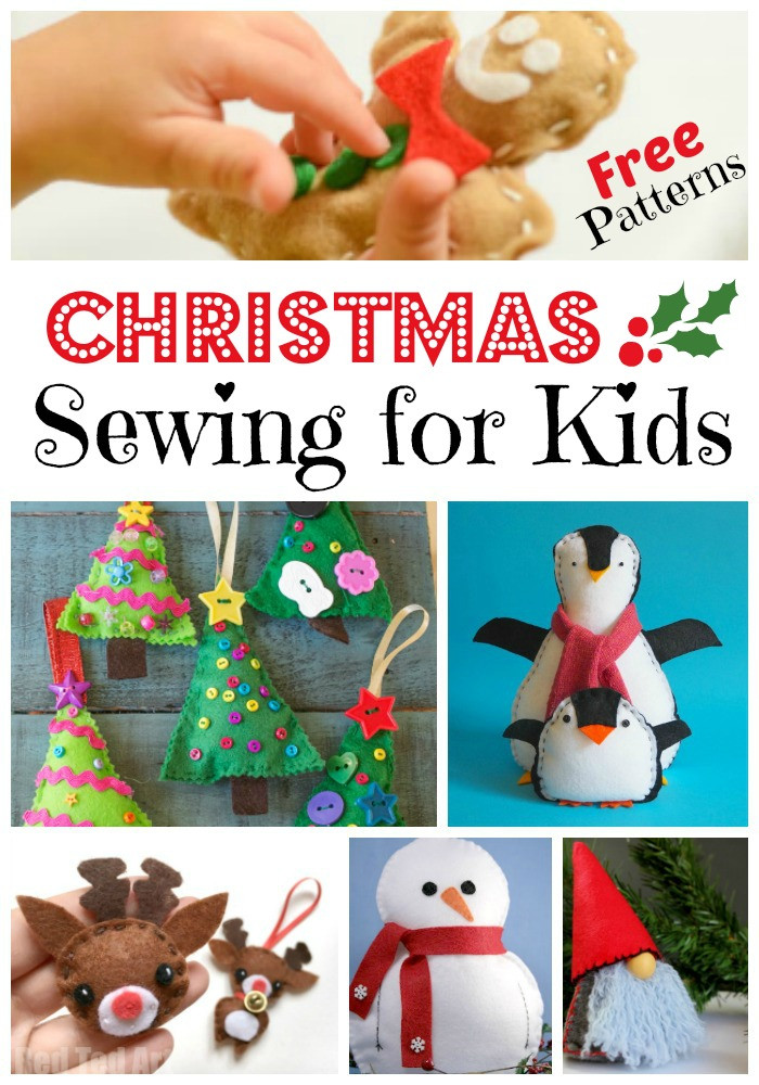 Best ideas about Projects For Kids . Save or Pin FREE Kids Sewing Projects for Christmas Red Ted Art s Blog Now.