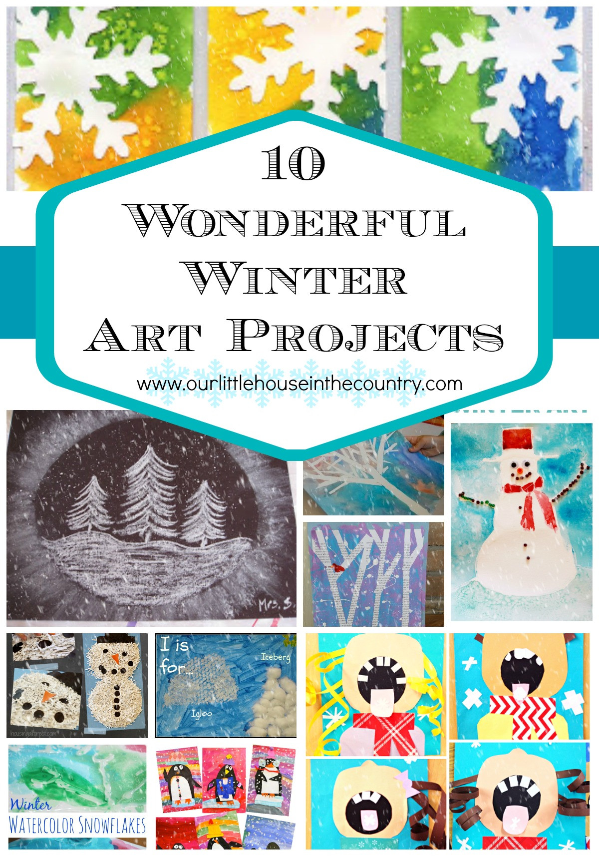 Best ideas about Projects For Little Kids . Save or Pin 10 Wonderful Winter Art Projects Now.