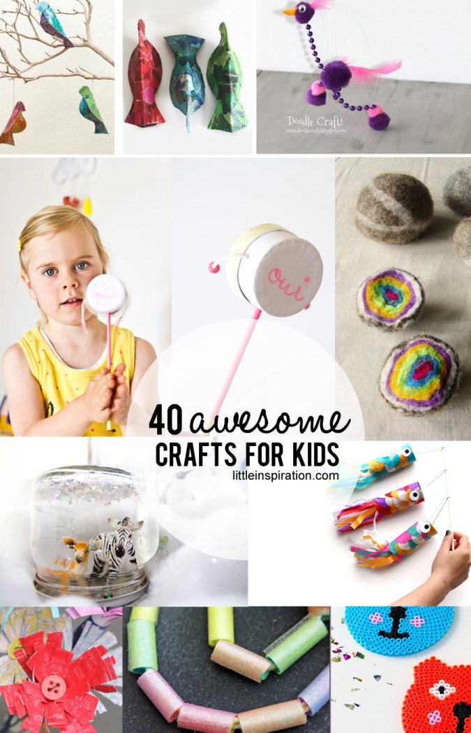 Best ideas about Projects For Little Kids . Save or Pin 40 Awesome Crafts for Kids Little Inspiration Now.