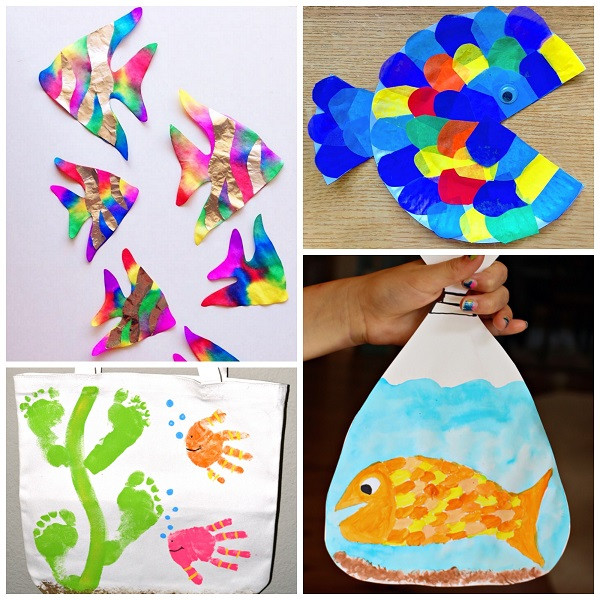 Best ideas about Projects For Little Kids . Save or Pin Creative Little Fish Crafts for Kids Crafty Morning Now.