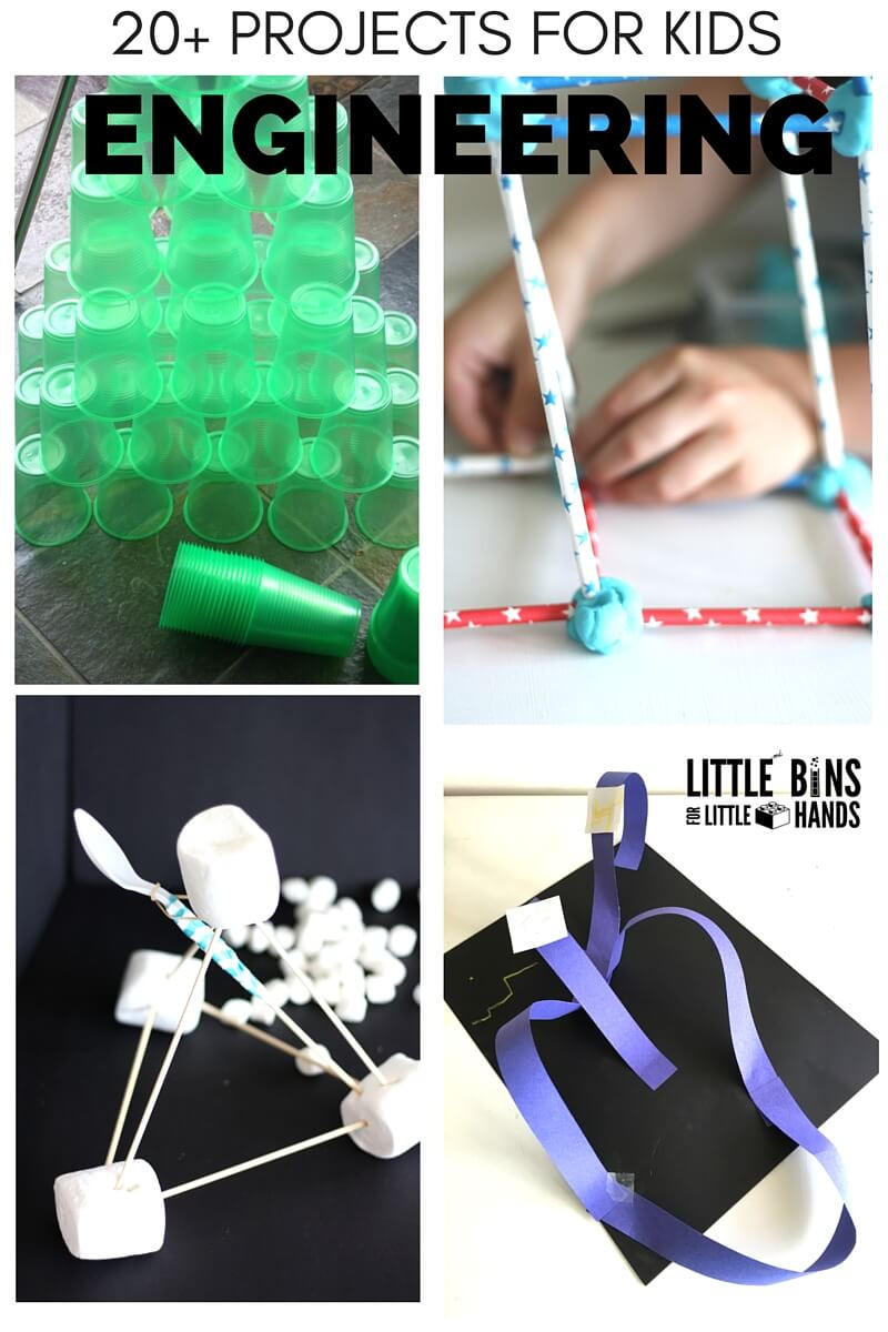 Best ideas about Projects For Little Kids . Save or Pin Dollar Store Engineering Kit for Kids STEM Activities Now.