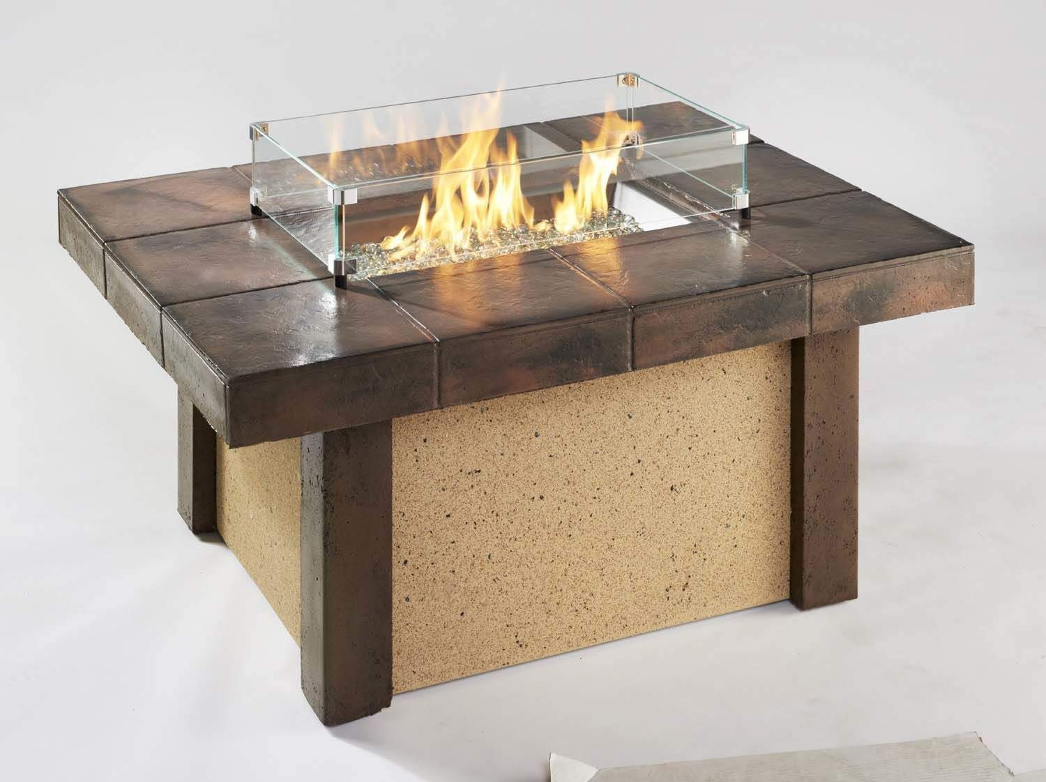 Best ideas about Propane Fire Pit Coffee Table . Save or Pin Outdoor Greatroom Rivers Edge Chat Height Gas Fire Pit Now.