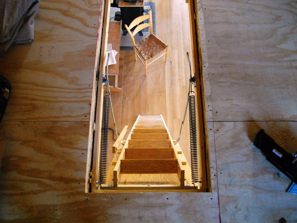 Best ideas about Pull Down Attic Stairs Lowes . Save or Pin Mid Century Attic Ladder Lowes Founder Stair Design Now.