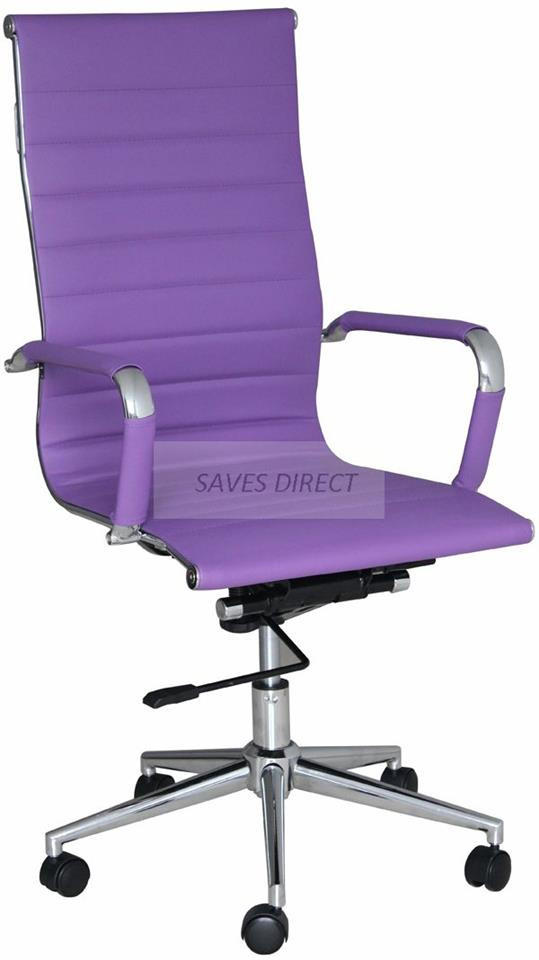 Best ideas about Purple Office Chair . Save or Pin HIGH BACK RIBBED DESIGNER EXECUTIVE LEATHER OFFICE Now.