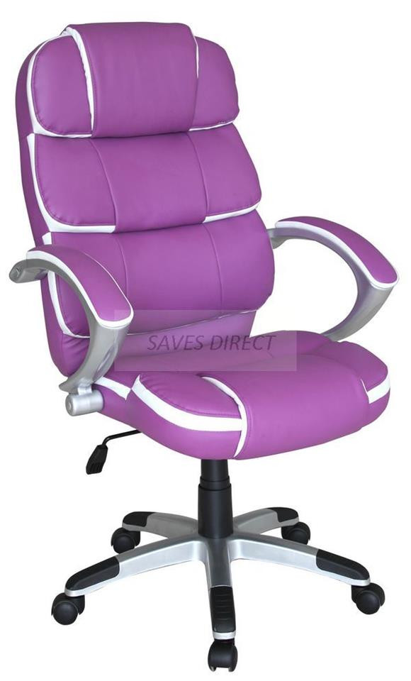 Best ideas about Purple Office Chair . Save or Pin NEW HIGH BACK MODERN EXECUTIVE SWIVEL PUTER OFFICE Now.