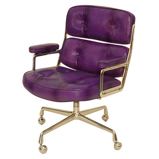 Best ideas about Purple Office Chair . Save or Pin lamb & blonde Home fice Chic Now.