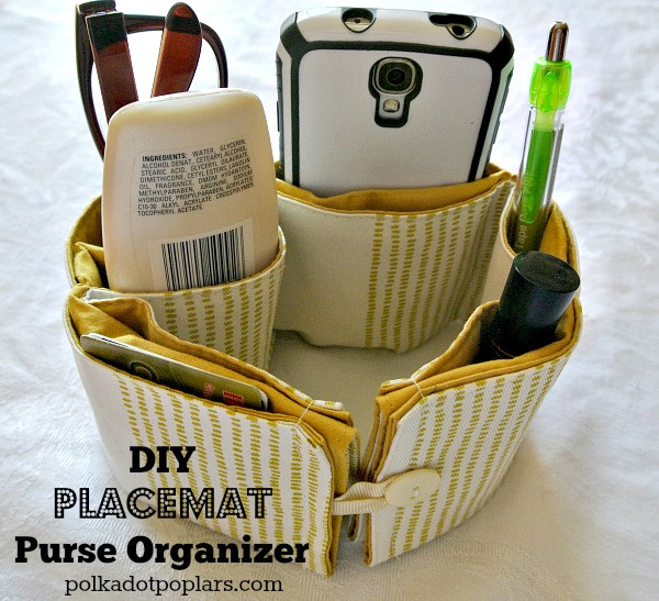 Best ideas about Purse Organizer DIY . Save or Pin DIY Placemat Purse Organizer Cooking With Ruthie Now.