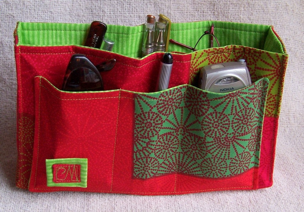 Best ideas about Purse Organizer DIY . Save or Pin SALE DIY Purse Organizer Kit Red Hot and Green with Envy II Now.