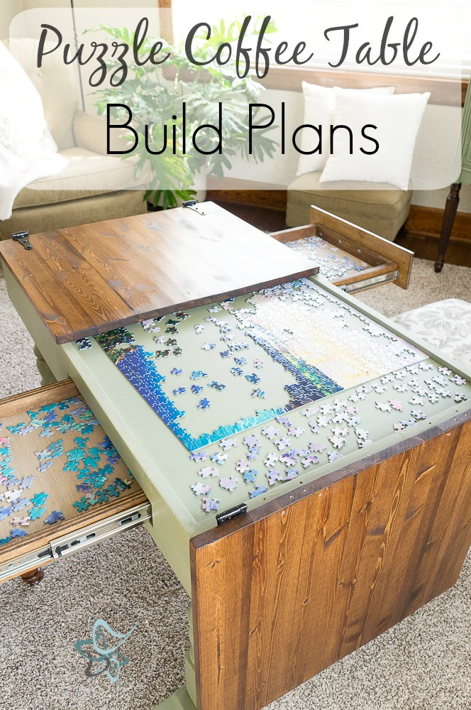Best ideas about Puzzle Table DIY . Save or Pin Puzzle Coffee Table Designed Decor Now.