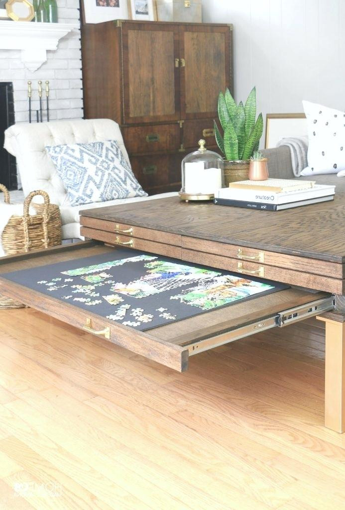 Best ideas about Puzzle Table DIY . Save or Pin DIY Puzzle Coffee Table Stool How To Simply Make It Now.
