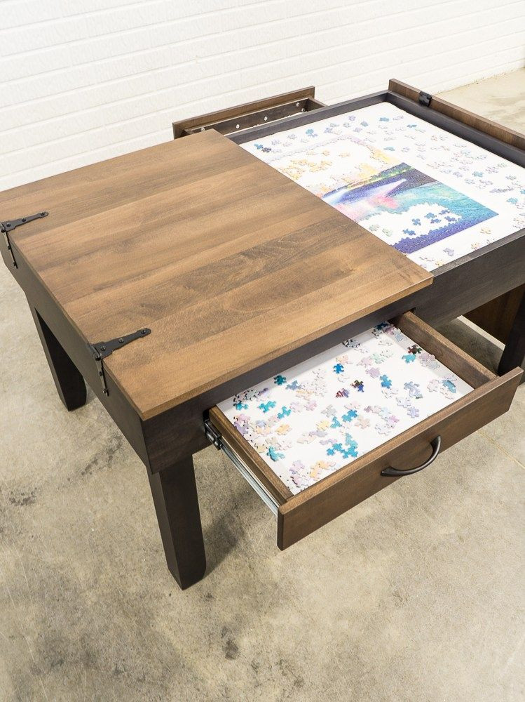 Best ideas about Puzzle Table DIY . Save or Pin Puzzle Table Coffee Table Height in 2019 DIY Now.