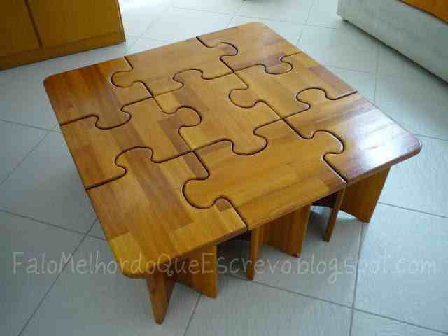 Best ideas about Puzzle Table DIY . Save or Pin DIY Puzzle Coffee & Side Tables Do It Yourself Fun Ideas Now.