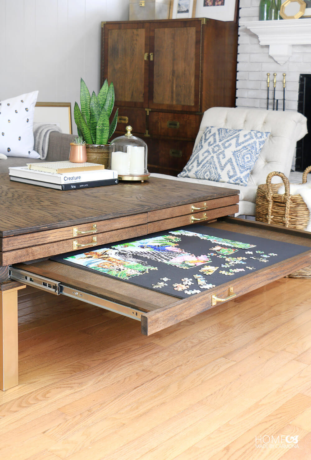 Best ideas about Puzzle Table DIY . Save or Pin DIY Coffee Table With Pullouts Home Made By Carmona Now.