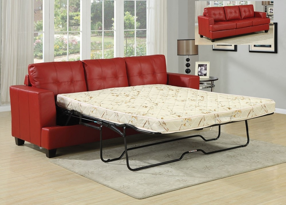 Best ideas about Queen Sleeper Sofa Mattress . Save or Pin Sofa Bed Sleeper Diamond Red Leather Sofa Queen Sleeper Now.